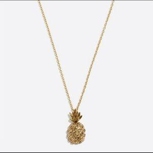 J Crew Pineapple Pendant Necklace